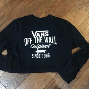 Vans Shirts - Vans long sleeve black long board tee young men